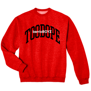 barrioBOYZ Crewneck (Black on Red)