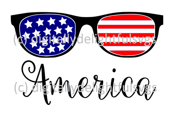 American sunglasses svg