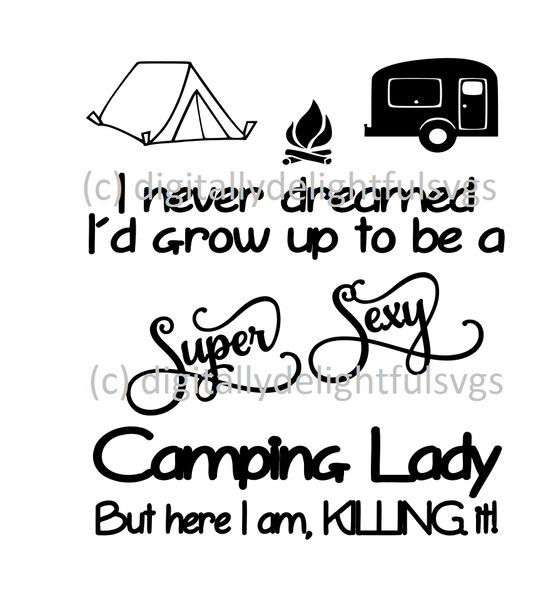 Camping Lady svg