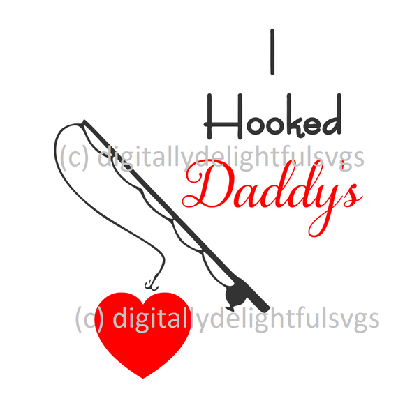 I hooked Daddy's heart svg