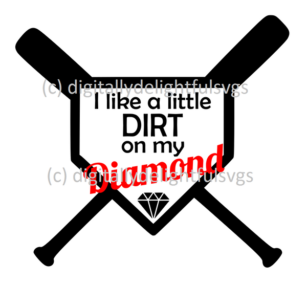 I like a little dirt on my diamond svg