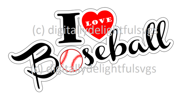 I love baseball svg