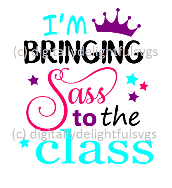 I'm Bringing Sass to the Class svg