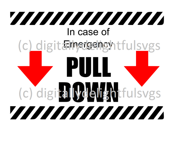 In case of emergency pull down svg