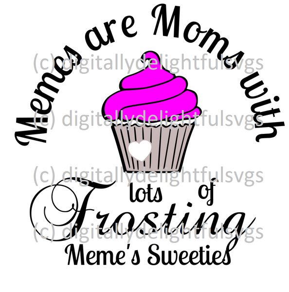 Memes are moms with lots of frosting svg