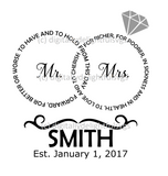 Mr and Mrs rings svg