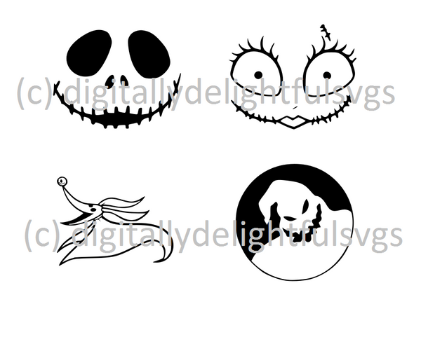 Nightmare Ornaments svg