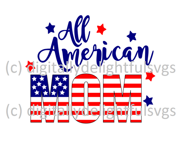 All American Mom svg
