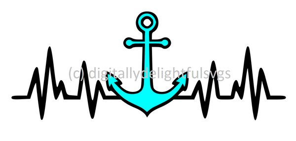 Anchor Heartbeat svg