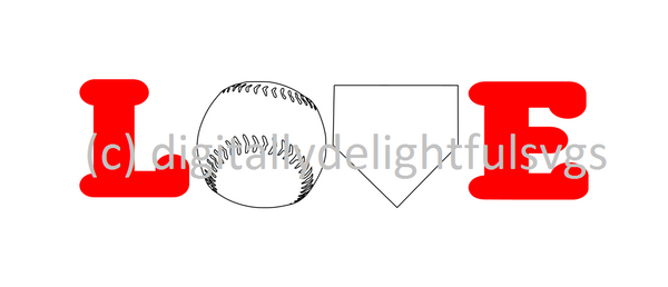 Baseball Love svg