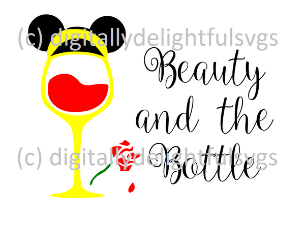 Beauty and the Bottle svg