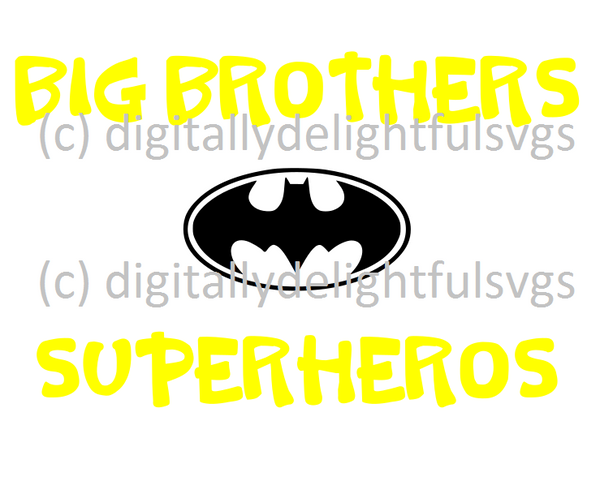 Big Brothers Superheros svg