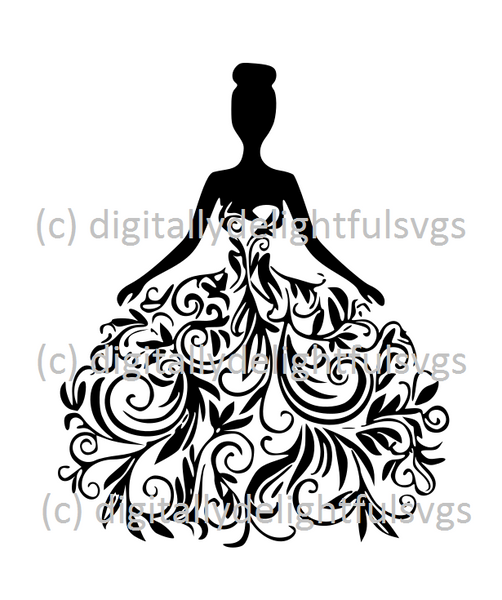 Bride in Wedding Dress svg