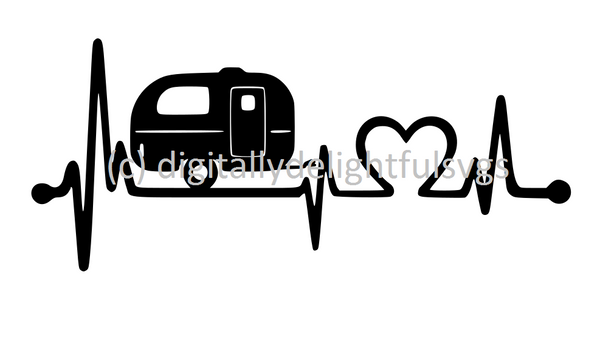 Camping Heartbeat svg