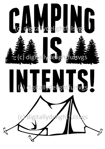 Camping is intents svg
