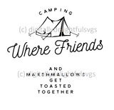 Camping where friends svg