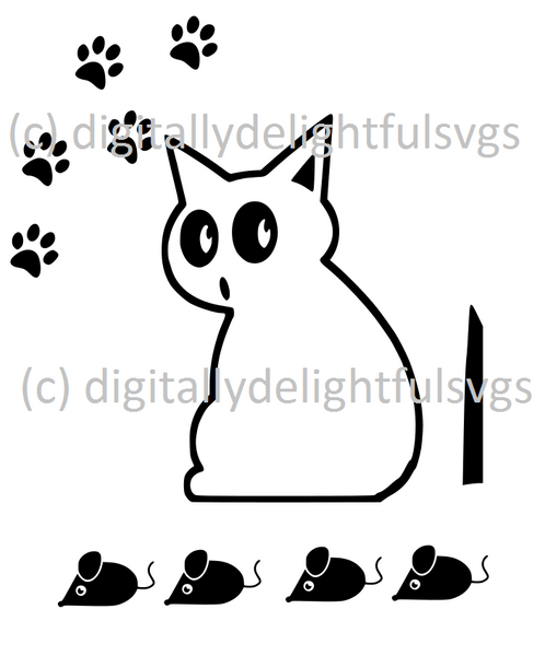 Cat Wiper Decal svg