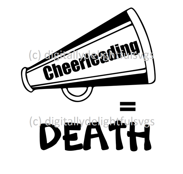 Cheerleading Equals Death svg
