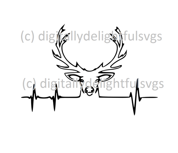 Deer Heartbeat svg