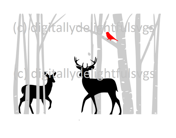 Deer in Forest svg