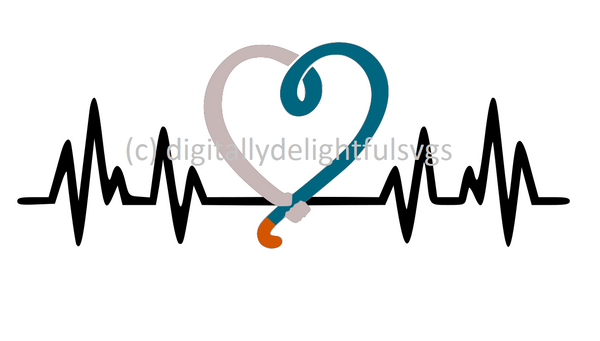 Fieldhockey heartbeat svg