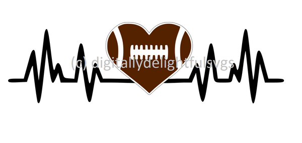 Football heartbeat svg