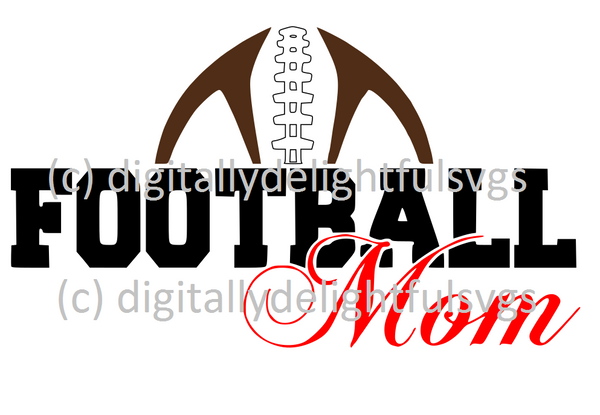 Football mom with laces svg