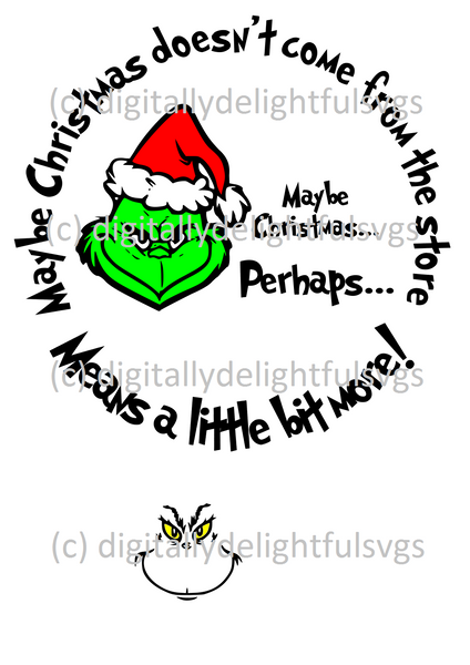 Christmas mug and plate svG