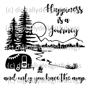 Happiness is a journey and only you have the map svg