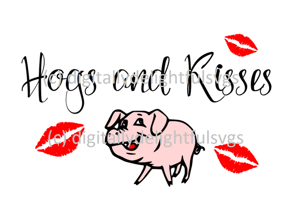 Hogs and Kisses svg