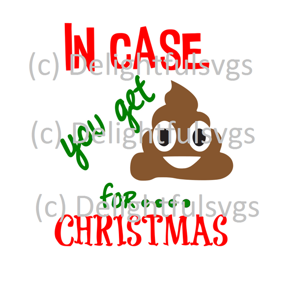 In case you get poop for Christmas svg