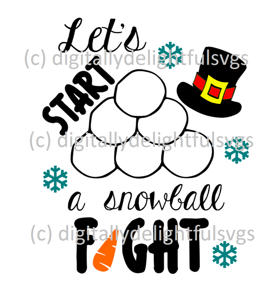 Let's start a snowball fight svg