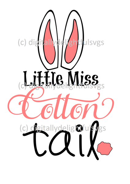Little Miss Cotton Tail svg