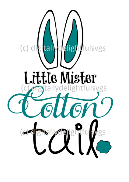 Little Mister Cotton Tail svg