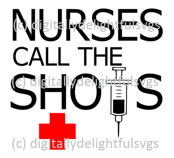 Nurses Call the Shots svg