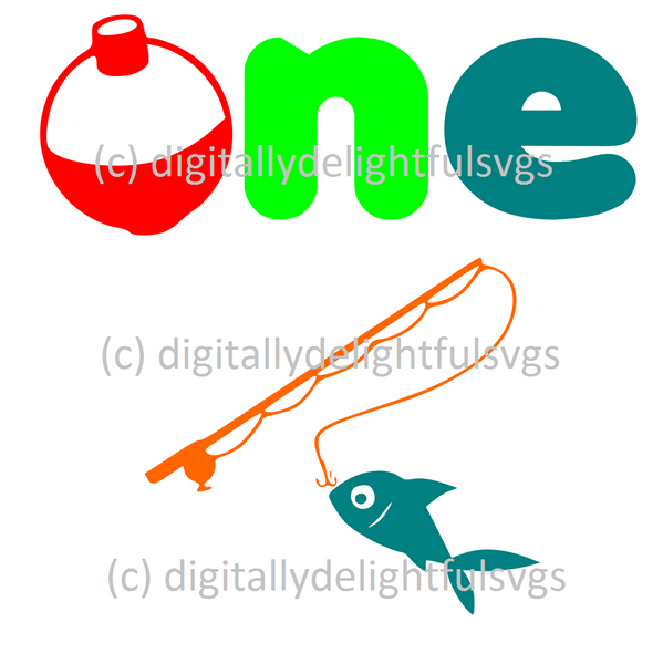 One with fishing pole svg