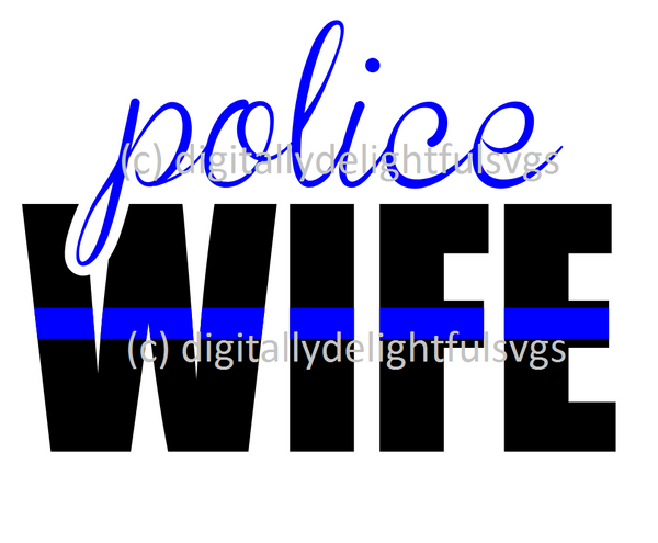 Police wife svg