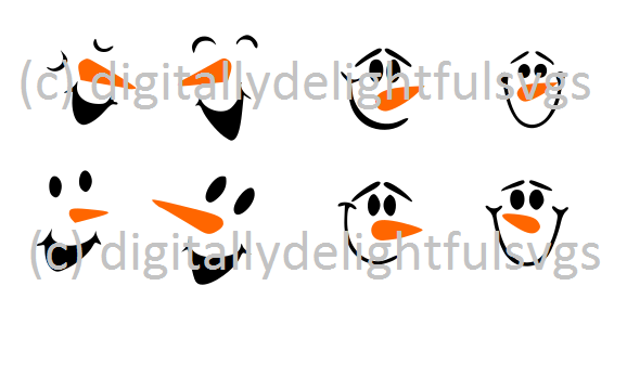 Snowman Faces svg