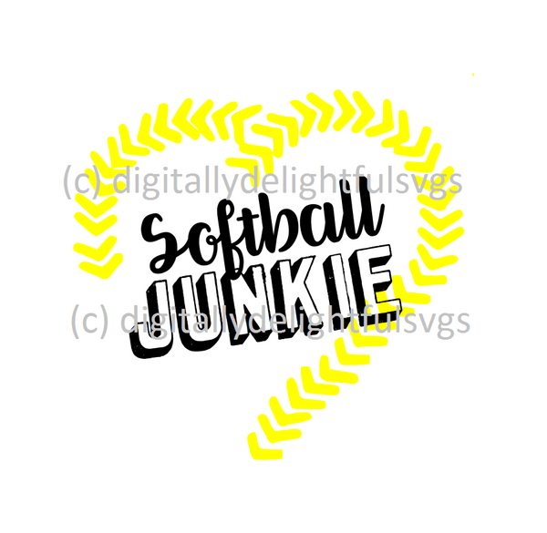Softball Junkie svg