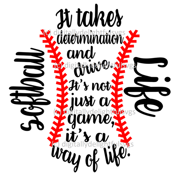 Softball life ball shape svg