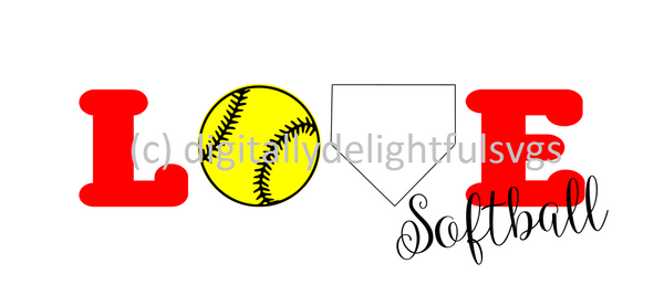 Softball Love svg