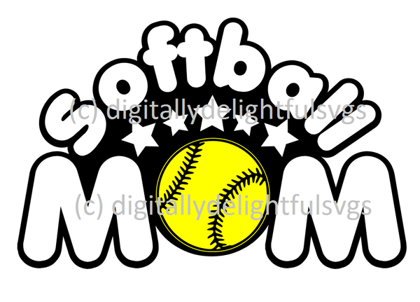 Softball mom 2 svg