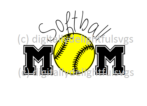 softball mom svg