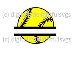 Split Softball svg