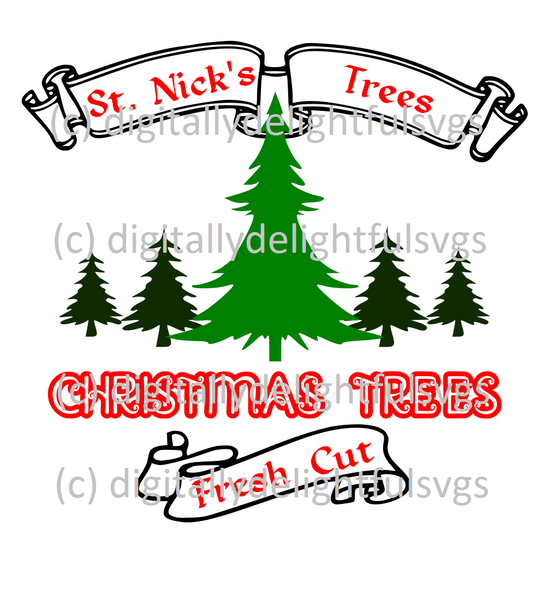 St. Nick's Trees svg