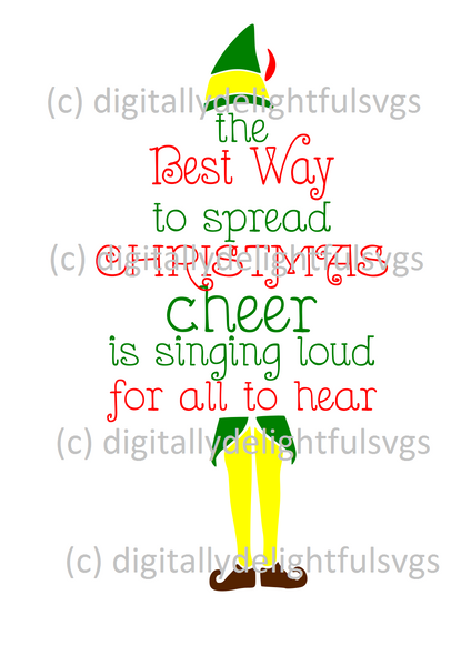 Christmas Cheer.The Best Way To Spread Christmas Cheer Svg