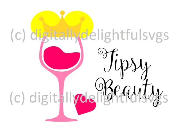 Tipsy Beauty svg