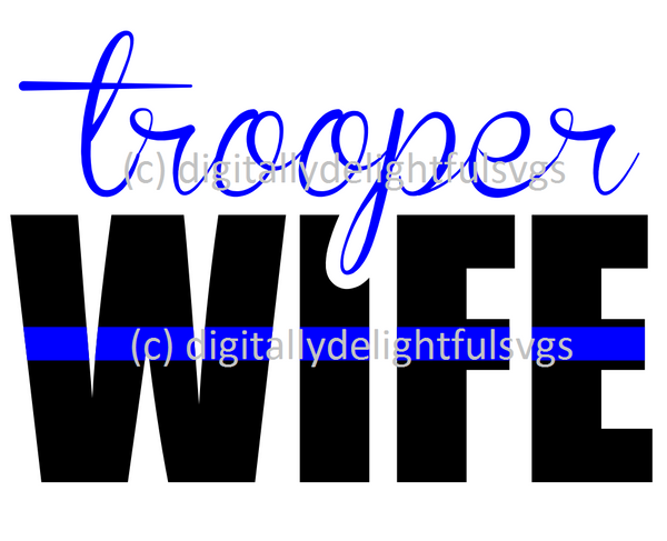 Trooper wife svg