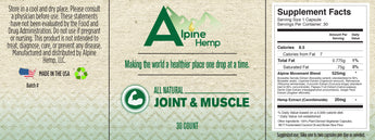 CBD - Capsules - Joint & Muscle