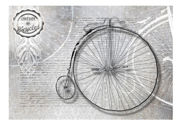 Fotomurale - Vintage bicycles - black and white